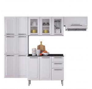 Cozinha De Aço Itatiaia Luce 10 Portas com Balcão 3 Portas e 2 Gavetas - Branco