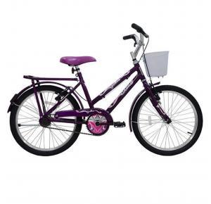 Bicicleta Infantil Aro 20 Genova com Garupa e Cesta - Cairu