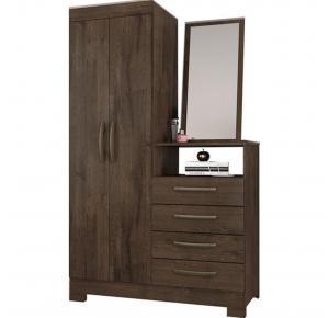 Cômoda com Espelho 4 Gavetas 2 Portas NT 5040 - Notável