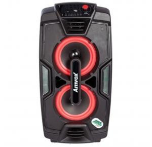 Caixa de Som Amplificada Amvox ACA 200 Turbo Bluetooth 200W Recarregável Bivolt
