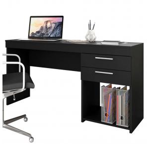 Escrivaninha para Computador Office 2 Gavetas Preta - Notável