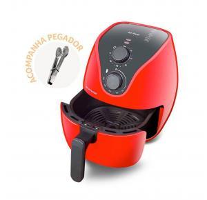Fritadeira Elétrica Sem Óleo Air Fryer 4 litros 1500W Vermelha - Multilaser