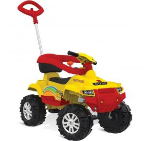 Quadriciclo Infantil Passeio e Pedal Superquad 591 Bandeirante - Amarelo