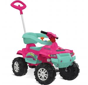 Quadriciclo Infantil Passeio e Pedal Superquad 593 Bandeirante - Rosa