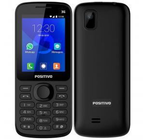 """Celular Positivo P70 Dual Chip, Preto, Tela 2.4"""", 3G, Bluetooth, Whatsapp e Facebook, 256MB"""