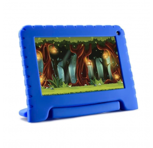 "Tablet Infantil Multilaser Kid Pad Go Azul - 16GB 7"" Wi-Fi Android 8.1 Quad-Core NB302"