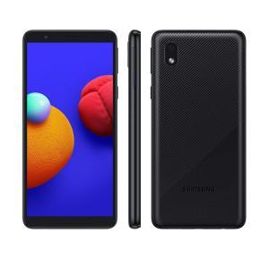 """Smartphone Samsung Galaxy A01 A013 Core 32GB Preto - Quad-Core 2GB RAM Tela 5,3"""" Câm. 8MP + Selfie 5MP"""