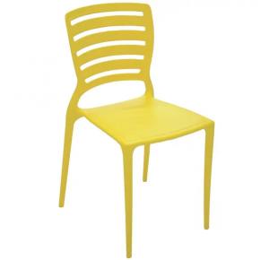 Cadeira Plástica Tramontina Sofia Encosto Vazado - Amarela