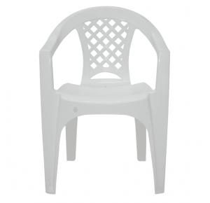 Cadeira Plástica Tramontina Iguapé com Braços - Branca
