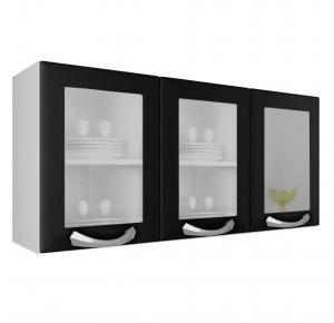 Armário de Cozinha Itatiaia Aéreo Premium 3 Portas Vidro - IPV3-120