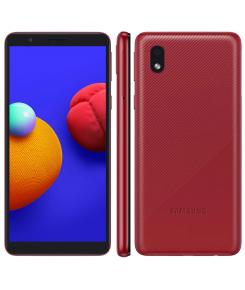 """Smartphone Samsung Galaxy A01 A013M Core Vermelho 32GB, Tela Infinita de 5.3"""" Câmera Traseira 8MP Android GO 10.0, Dual Chip e Processador Quad-Core"""