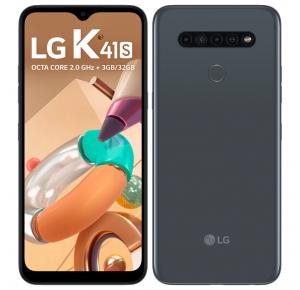 "Smartphone LG K41S 32GB Titanium 4G Octa-Core - 3GB RAM 6,55"" Câm. Quádrupla + Selfie 8MP"
