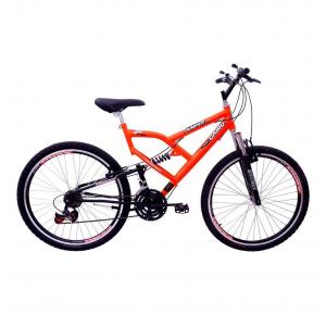 Bicicleta Aro 26 21 Marchas Jumper Boy com Suspensão Laranja - Cairu