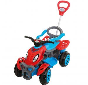 Quadriciclo Infantil Spider com Pedal e Empurrador - Maral