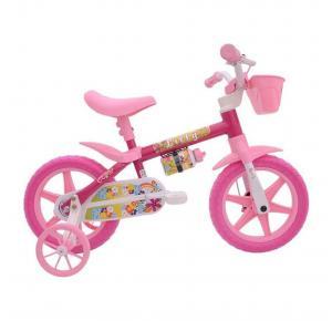 Bicicleta Infantil Aro 12 Lilly Flower Branco/Rosa - Cairu