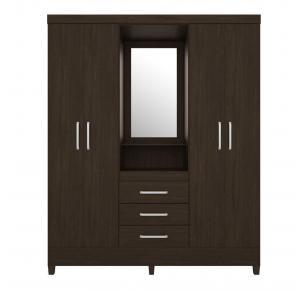 Guarda-roupa 4 Portas com Espelho Capelinha Pérsia - Demóbile