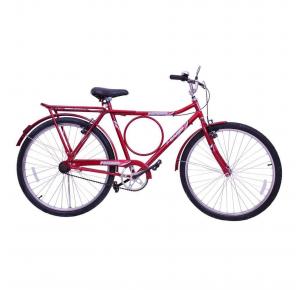 Bicicleta Aro 26 Contra Pedal Potenza Cairu - Vermelha