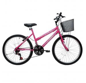 Bicicleta Aro 26 21 Marchas Com Cestão Bella - Cairu