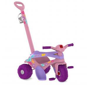 Triciclo Infantil Bandeirante Passeio e Pedal Motoka Flower - 842