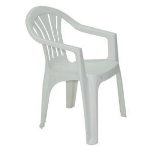 Cadeira Plástica Tramontina Bertioga - Branca