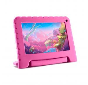 "Tablet Infantil Multilaser Kid Pad Go Rosa - 16GB 7"" Wi-Fi Android 8.1 Quad-Core NB303"