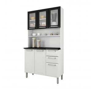 Armário de Cozinha Itatiaia Regina I3VG2-105 6 Portas 3 de Vidro 2 Gavetas