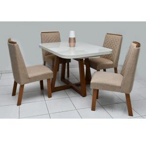 Mesa de Jantar 4 Cadeiras Lucca - Bom Pastor