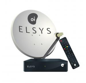 Kit Antena 60cm com Receptor Elsys Oi TV Livre HD